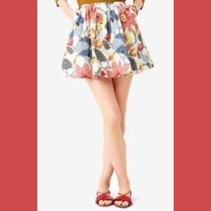 Kate Spade Saturday pixel flower print skirt 6